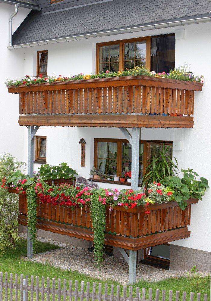 Balkonbau im Erzgebirge